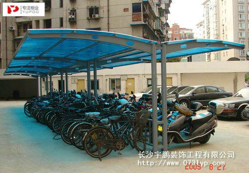 武汉国家安全局停钢结构自行车棚